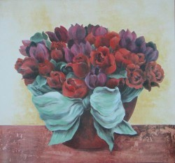 Roses with Bowl by Janet Brignola-Tava