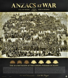 Anzacs At War - The 1st Battalion at the Cheops Pyramid in Egypt