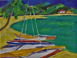 Tropical Sailboats I