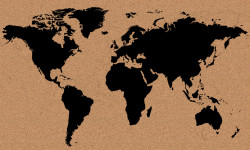 Cork World Map 005 (With Adhesive) by cork board map