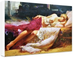 Day Dream Stretched Oil by Pino Daeni - Stretched Canvas