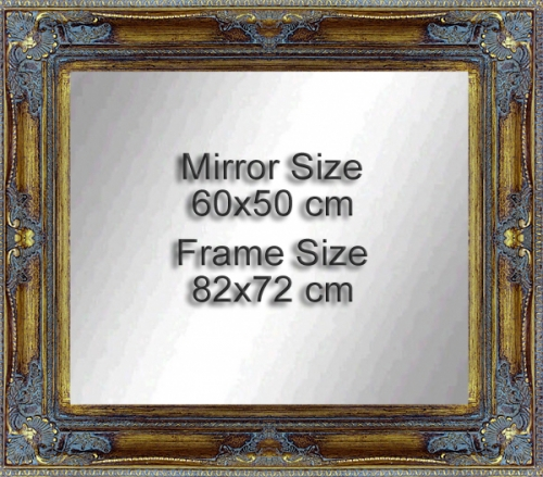 Classic wooden frame , ready to hang fitted with 60x50 cm Mirror.<br>Outside size: