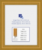 Light Stain Wooden Frame 308A to Fit 8x10 inch Photo