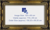 Baroque Classic Antique Ornate Frame - Inner Size Fits 120 x 60cm