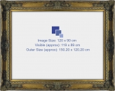 Baroque Classic Antique Ornate Frame - Inner Size Fits 120 x 90cm