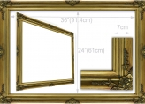Classic Gold Ornate Baroque Frame III - Inner Size Fits 91.5 x 61cm