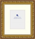 17.5x19.8cm Gold Frame with 3.5cm Mat - Fits 10.5x13cm Print (285G)