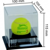 acrylic display box for cricket ball 100mm width x 100mm length x 115mm depth