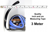 Quality 3 Meter Measuring Tape, Inch and Centimeter