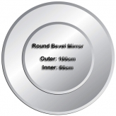 Double Round Bevelled Mirrors (Outer 100x100cm Inner 60x60cm)