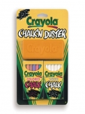 Crayola Chalk and Duster Set   Package includes 12 white and 12 Coloured Chalks   With Duster that cleans Chalkboards and Whiteboards