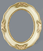 Oval Frame 010 Ivory Internal Size 6x8 inch (15 x 20.5cm) Frame Width 0.75in (2cm) with Clear Acrylic and MDF Backing