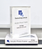 Crystal clear acrylic picture frame  A5 Size  Stand both portrait and landscape