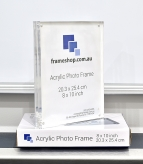 Crystal clear acrylic picture frame  8x10inch  Stand both portrait and landscape