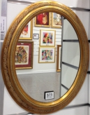 Oval Frame Gold Internal Size 30x40 cm Frame Width fitted with a mirror outer dimentions 38x48cm
