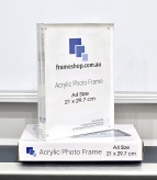 Crystal clear acrylic picture frame  A4 Size 21x29.7cm  Stand both portrait and landscape