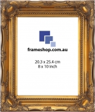 SOHO Gold to fit 8x10 inch (20.3x25.4cm) photo Outer Size 29x34cm