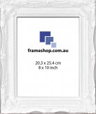 SOHO White Gloss to fit 8x10 inch (20.3x25.4cm) photo Outer Size 29x34cm
