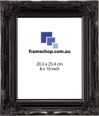 SOHO Black Gloss to fit 8x10 inch (20.3x25.4cm) photo Outer Size 29x34cm